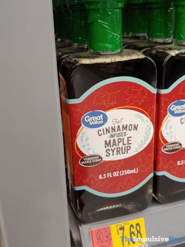 Great Value Fall Cinnamon Infused Maple Syrup
