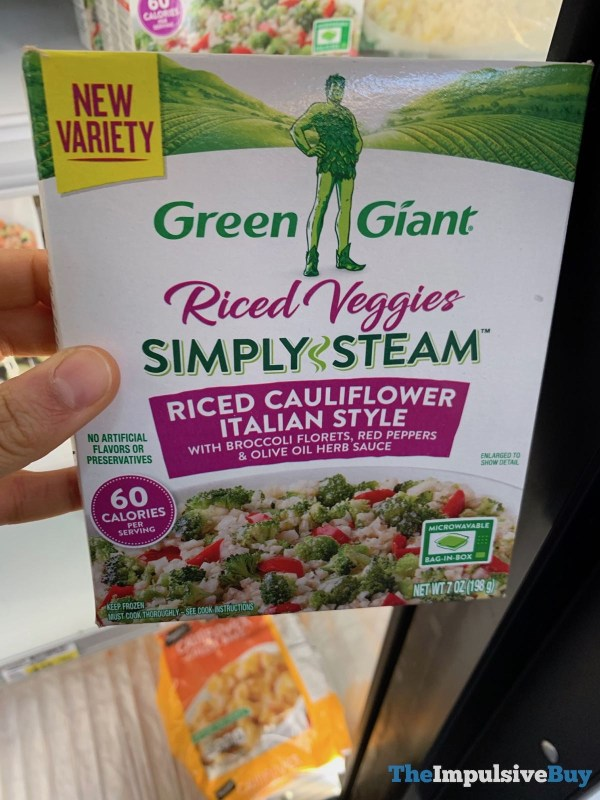 Green Giant Riced Veggies Simple Steam Riced Cauliflower Italian Style