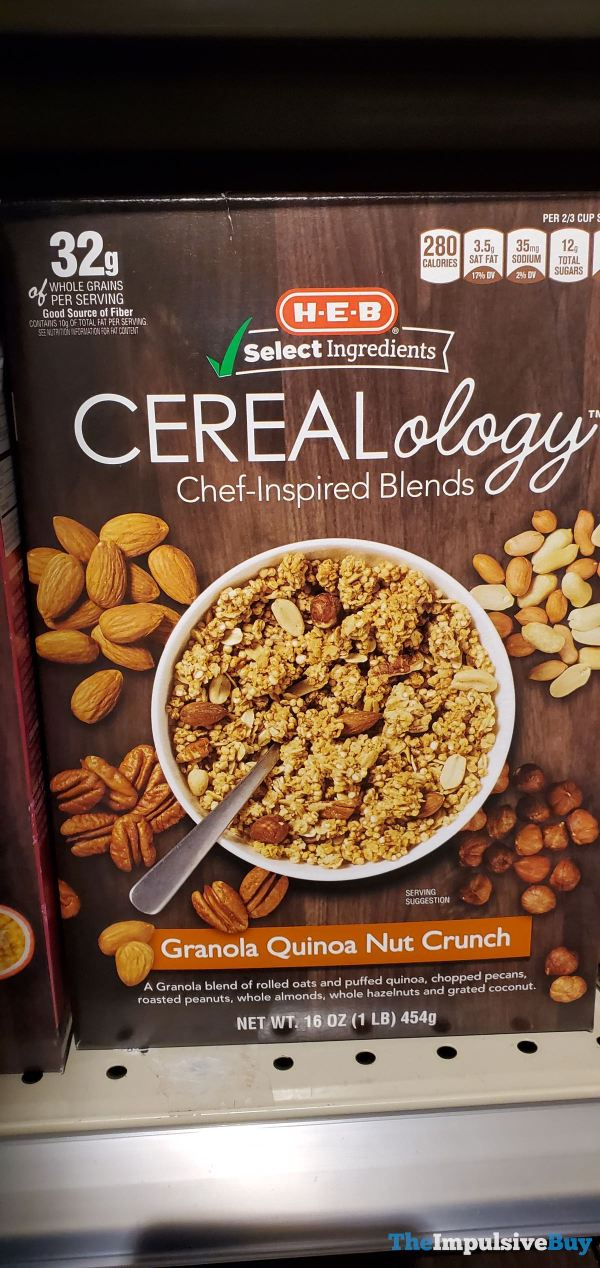 H E B Cerealology Granola Quinoa Nut Crunch