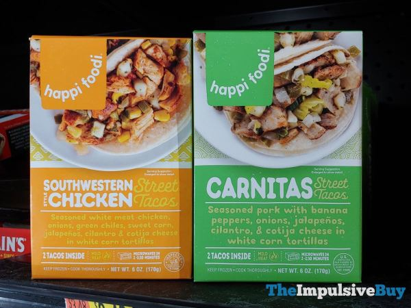 Happi Foodi Southwestern Chicken and Carnitas Street Tacos