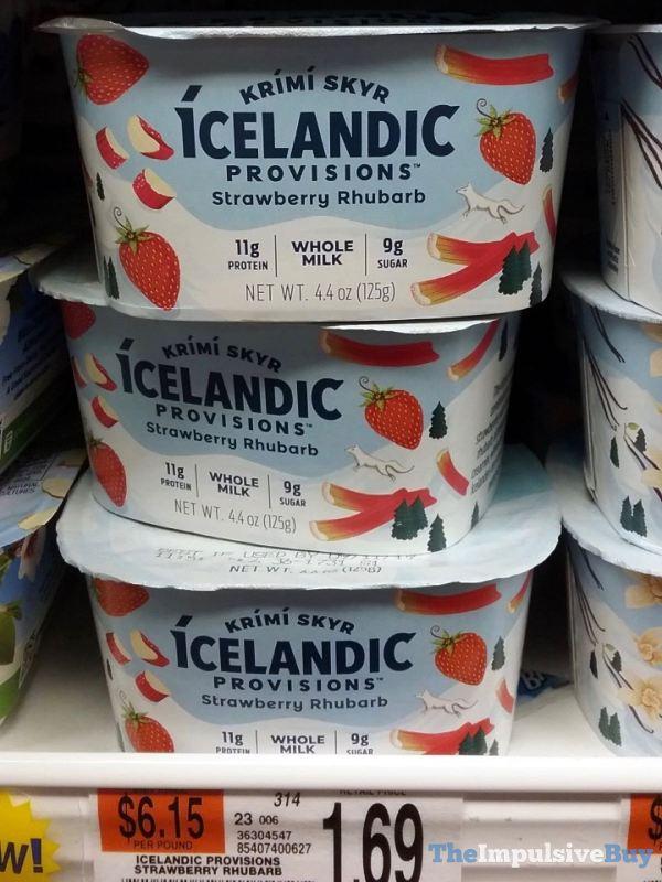 Icelandic Provisions Strawberry Rhubarb Krimi Skyr Yogurt