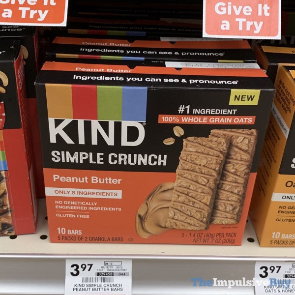 Kind Simple Crunch Peanut Butter Bars