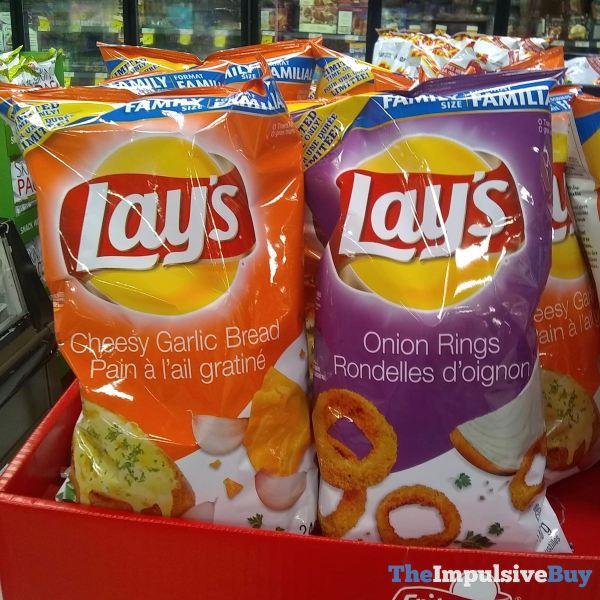 Lay s Cheesy Garlic Bread and Onion Rings Potato Chips  Canada