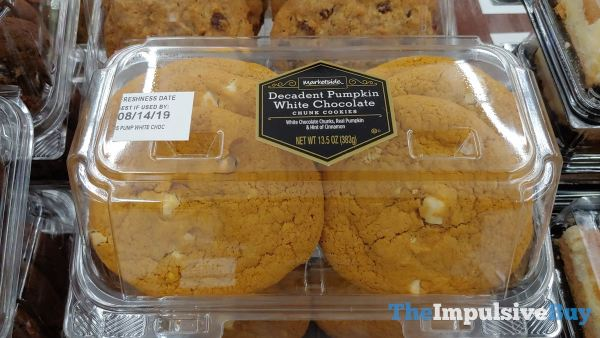 Marketside Decadent Pumpkin White Chocolate Chunk Cookies