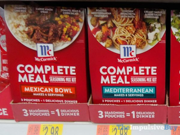 McCormick Complete Meal Seasoning Mix Kits  Mexican Bowl and Mediterranean