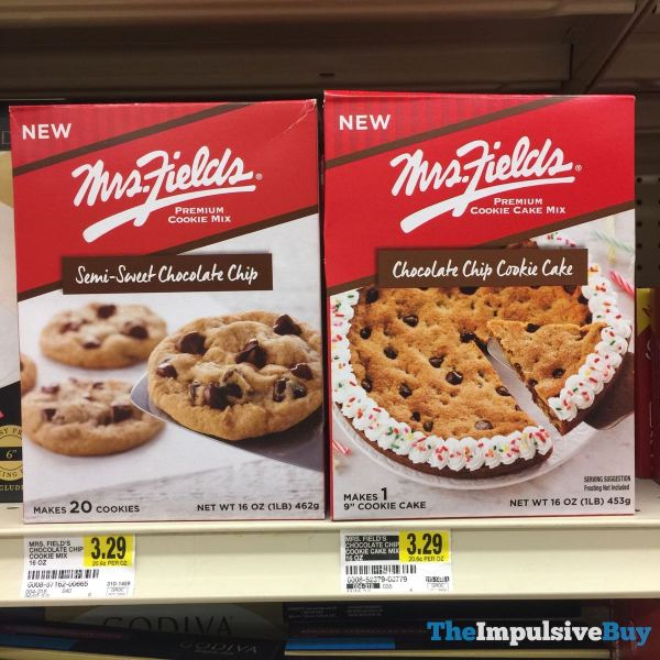 Mrs Fields Semi Sweet Chocolate Chip Premium Cookie Mix and Premium Cookie Cake Mix