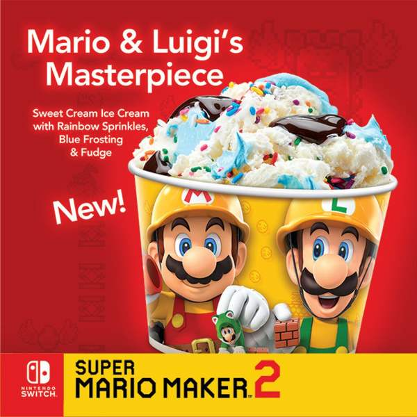 News Cold Stone Creamery Mario  Luigi s Masterpiece Creation