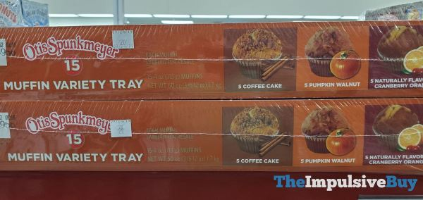 Otis Spunkmeyer Muffin Variety Tray  Coffee Cake Pumpkin Walnut and Cranberry Orange