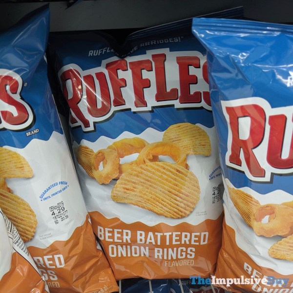 Ruffles Beer Battered Onion Rings Potato Chips