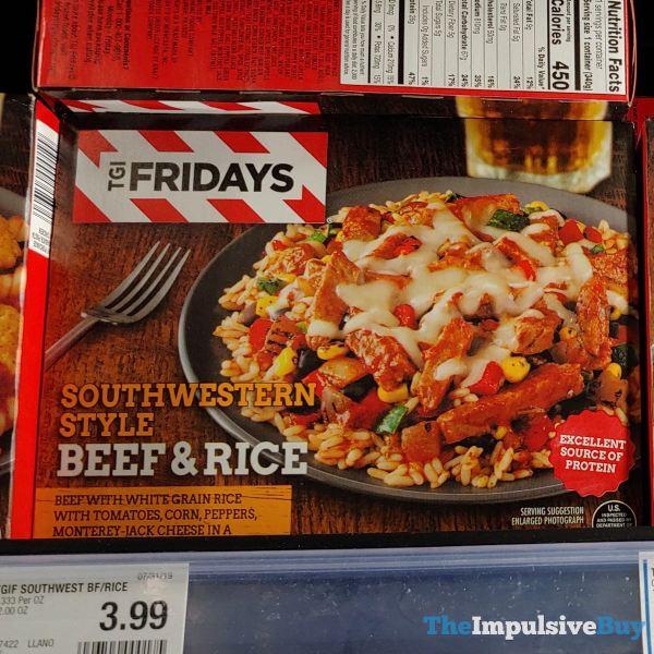 TGI Fridays Southwestern Style Beef  Rice