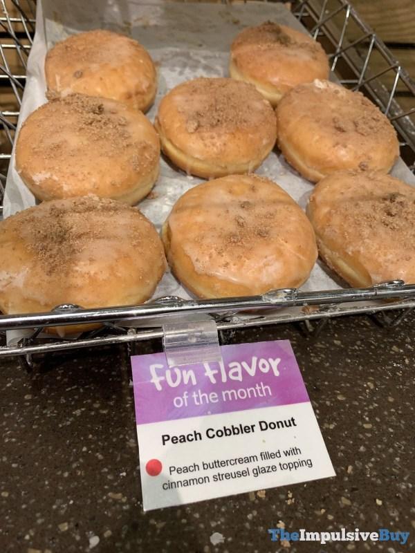 Wegmans Fun Flavor of the Month Peach Cobbler Donut