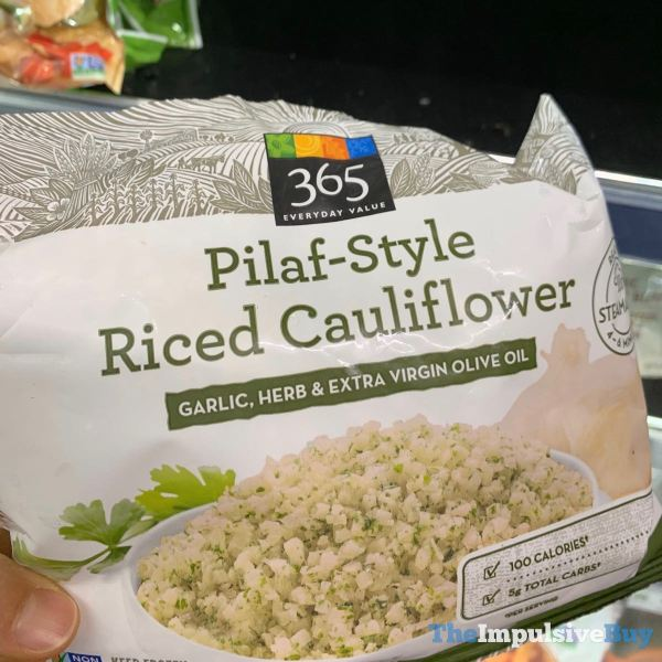 365 Everyday Value Pilaf Style Riced Cauliflower Garlic Herb  Extra Virgin Olive Oil