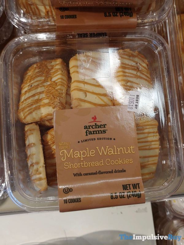Archer Farms Limited Edition Maple Walnut Shortbread Cookies