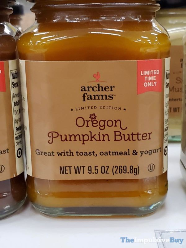 Archer Farms Limited Edition Oregon Pumpkin Butter