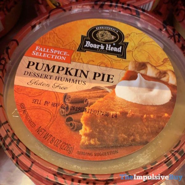 Boar s Head Pumpkin Pie Dessert Hummus