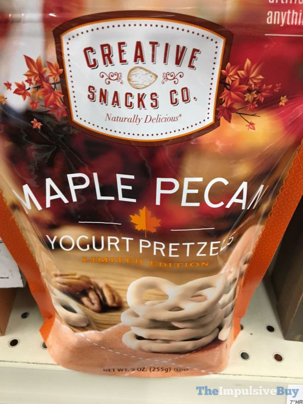 Creative Snacks Co Maple Pecan Yogurt Pretzels
