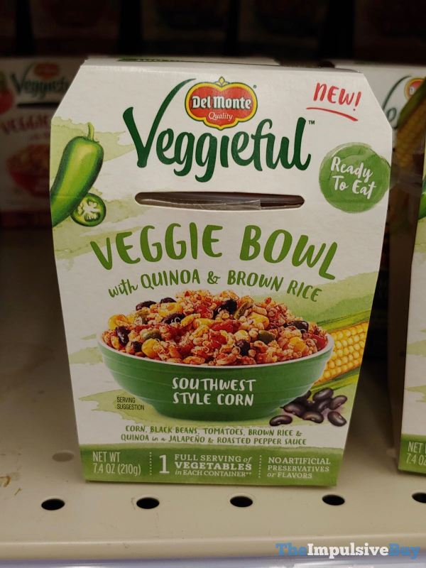 Del Monte Veggieful Southwest Style Corn Veggie Bowl with Quinoa  Brown Rice