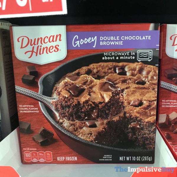 Duncan Hines Gooey Double Chocolate Brownie