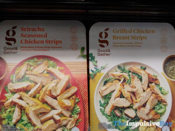 Good  Gather Sriracha Seasoned Chicken Strips and Grilled Chicken Breast Strips