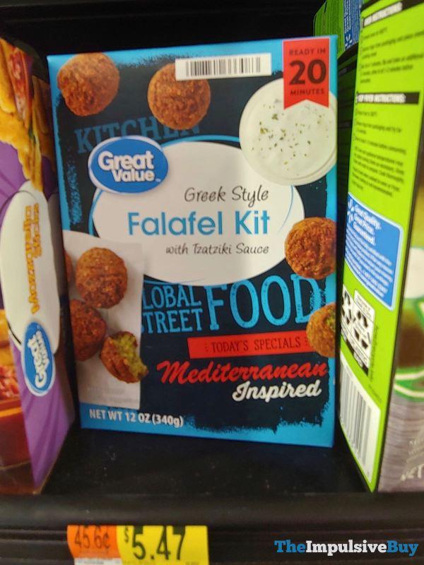 Great Value Global Street Food Mediterranean Inspired Greek Style Falafel Kit