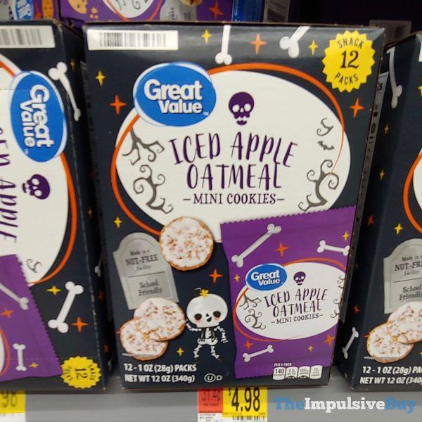 Great Value Halloween Iced Apple Oatmeal Cookies