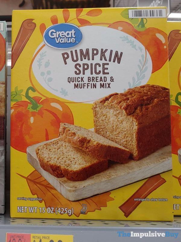 Great Value Pumpkin Spice Quick Bread  Muffin Mix