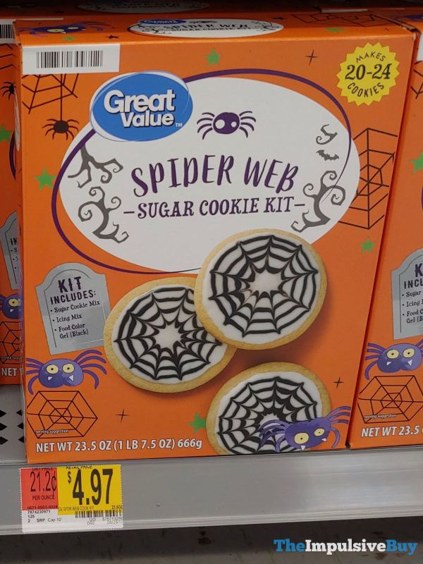 Great Value Spider Web Sugar Cookie Kit