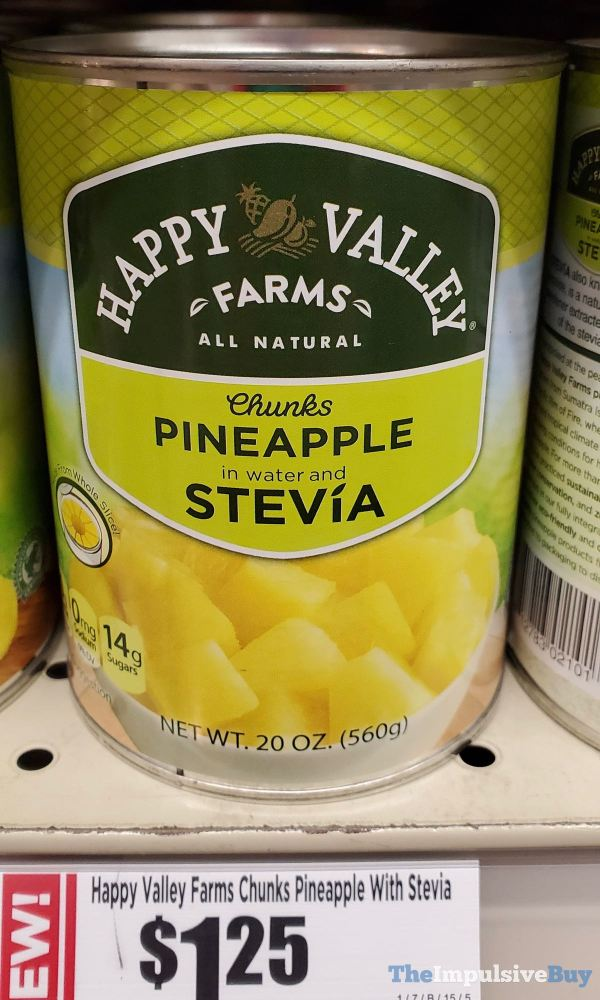 Happy Valley Farms Chunks Pineapple with Stevia