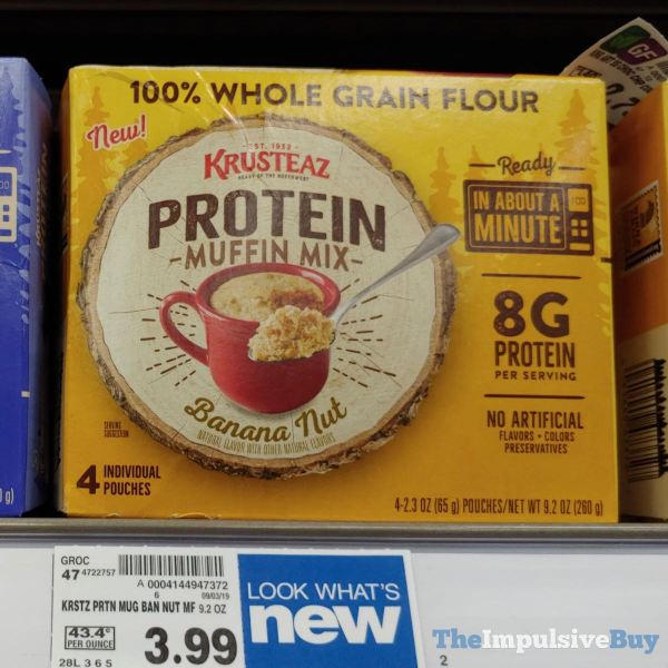 Kruzteaz Protein Banana Nut Muffin Mix