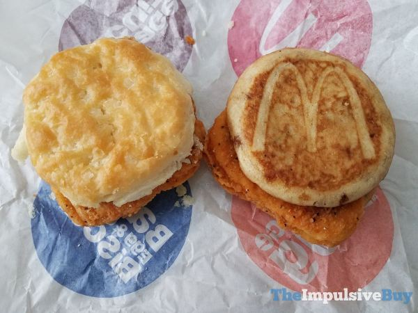 McDonald s Chicken McGriddles and McChicken Biscuit