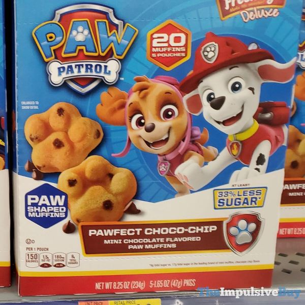 Mrs Freshley s Deluxe Paw Patrol Pawfect Choco Chip Paw Muffins