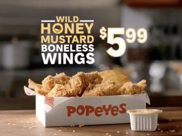 News Popeyes Wild Honey Mustard Boneless Wings