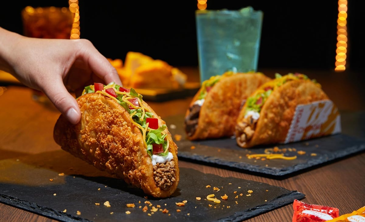 Image result for What's Actually Inside Taco Bell's Crunchy Beef Taco?
