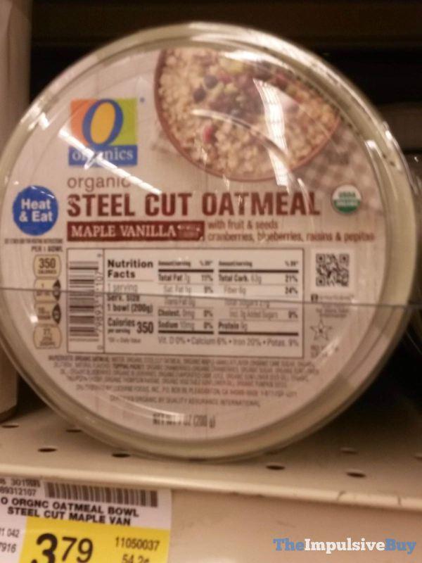 Safeway Organics Maple Vanilla Steel Cut Oatmeal