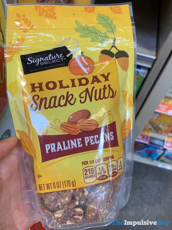 Signature Select Seasons Holiday Snack Nuts Praline Pecans
