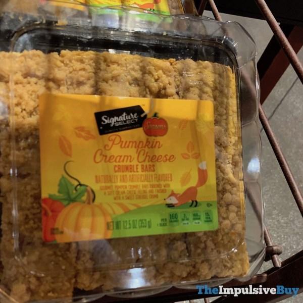 Signature Select Seasons Pumpkin Cream Cheese Crumble Bars