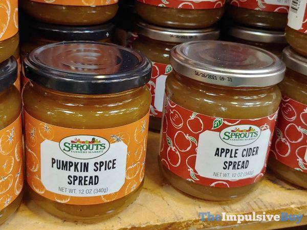 Sprouts Pumpkin Spice Spread and Apple Cider Spread