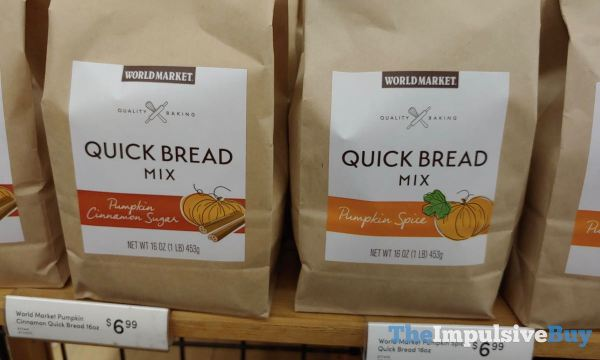 World Market Pumpkin Cinnamon Sugar and Pumpkin Spice Quick Bread Mixes