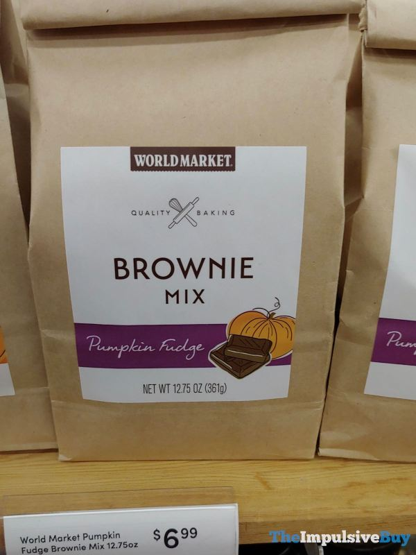 World Market Pumpkin Fudge Brownie Mix
