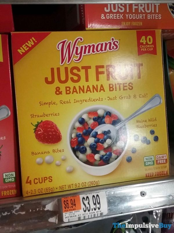 Wyman s Strawberry and Blueberry Just Fruit  Banana Bites