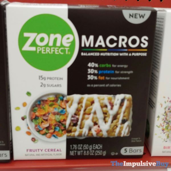 Zone Perfect Macros Fruity Cereal Bars