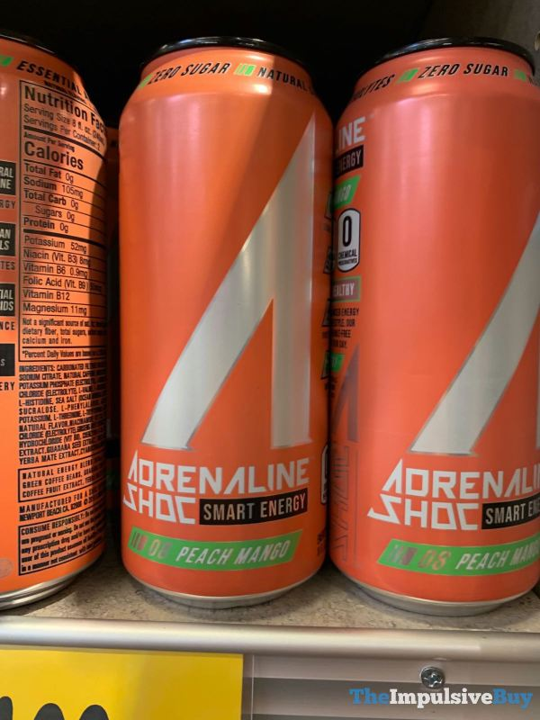 Adrenaline Shoc Peach Mango Energy Drink