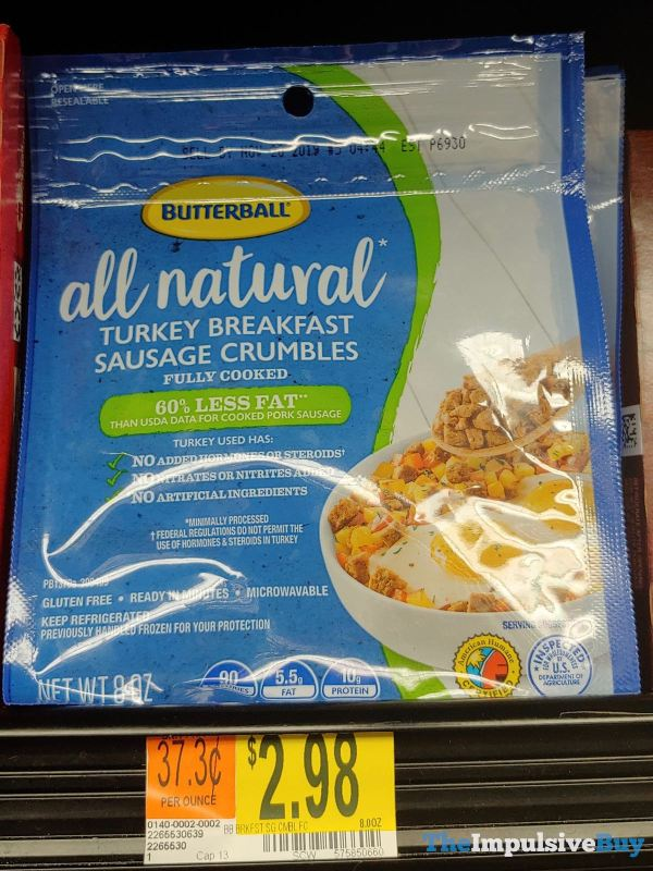 Butterball All Natural Turkey Breakfast Sausage Crumbles