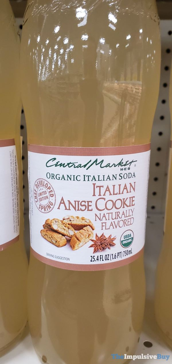Central Market H E B Limited Edition Italian Anise Cookie Organic Italian Soda