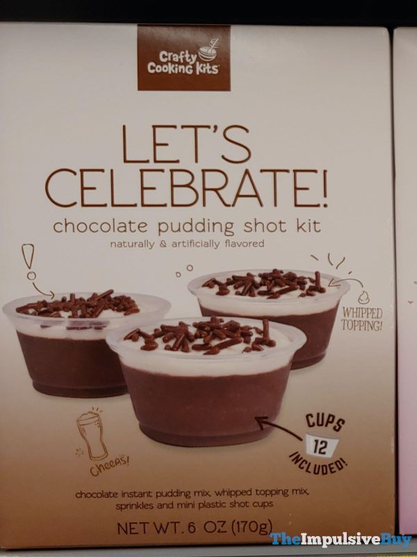 Crafty Cooking Kits Let s Celebrate Chocolate Pudding Shot Kit