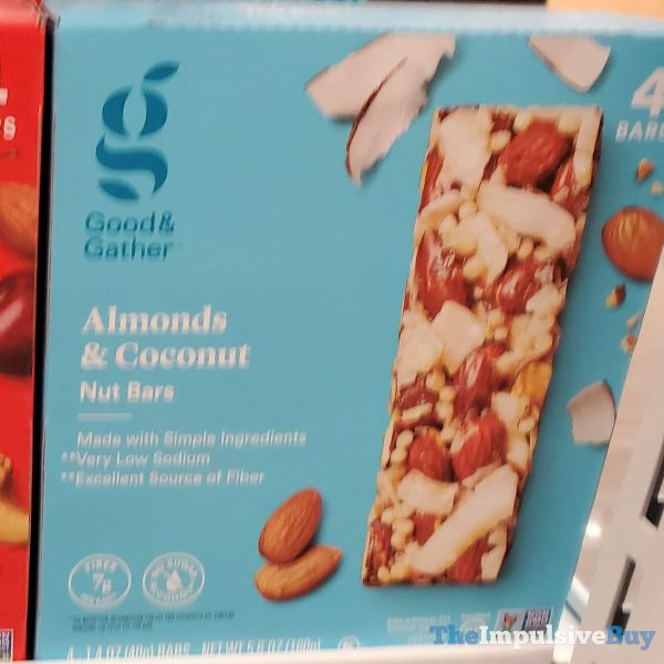 Good  Gather Almonds  Coconut Nut Bars