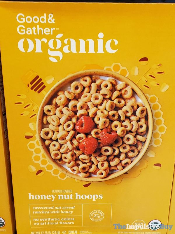 Good  Gather Organic Honey Nut Hoops Cereal