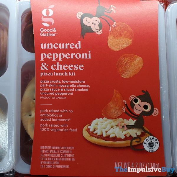 Good  Gather Uncured Pepperoni  Cheese Pizza Lunch Kit