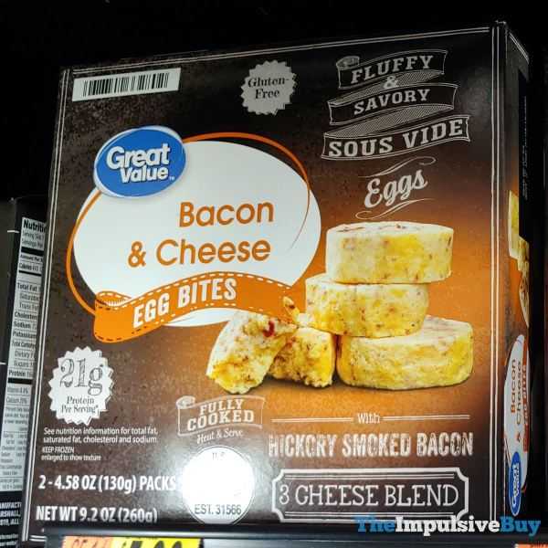 Great Value Bacon  Cheese Egg Bites