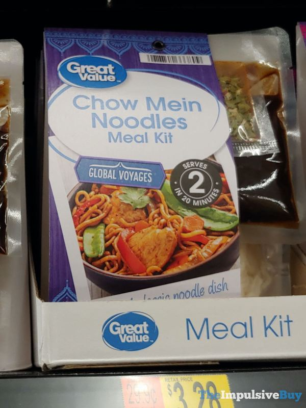 Great Value Global Voyages Chow Mein Noodles Meal Kit